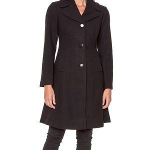 Kate Spade Black NWT med Notch Lapel Wool Coat